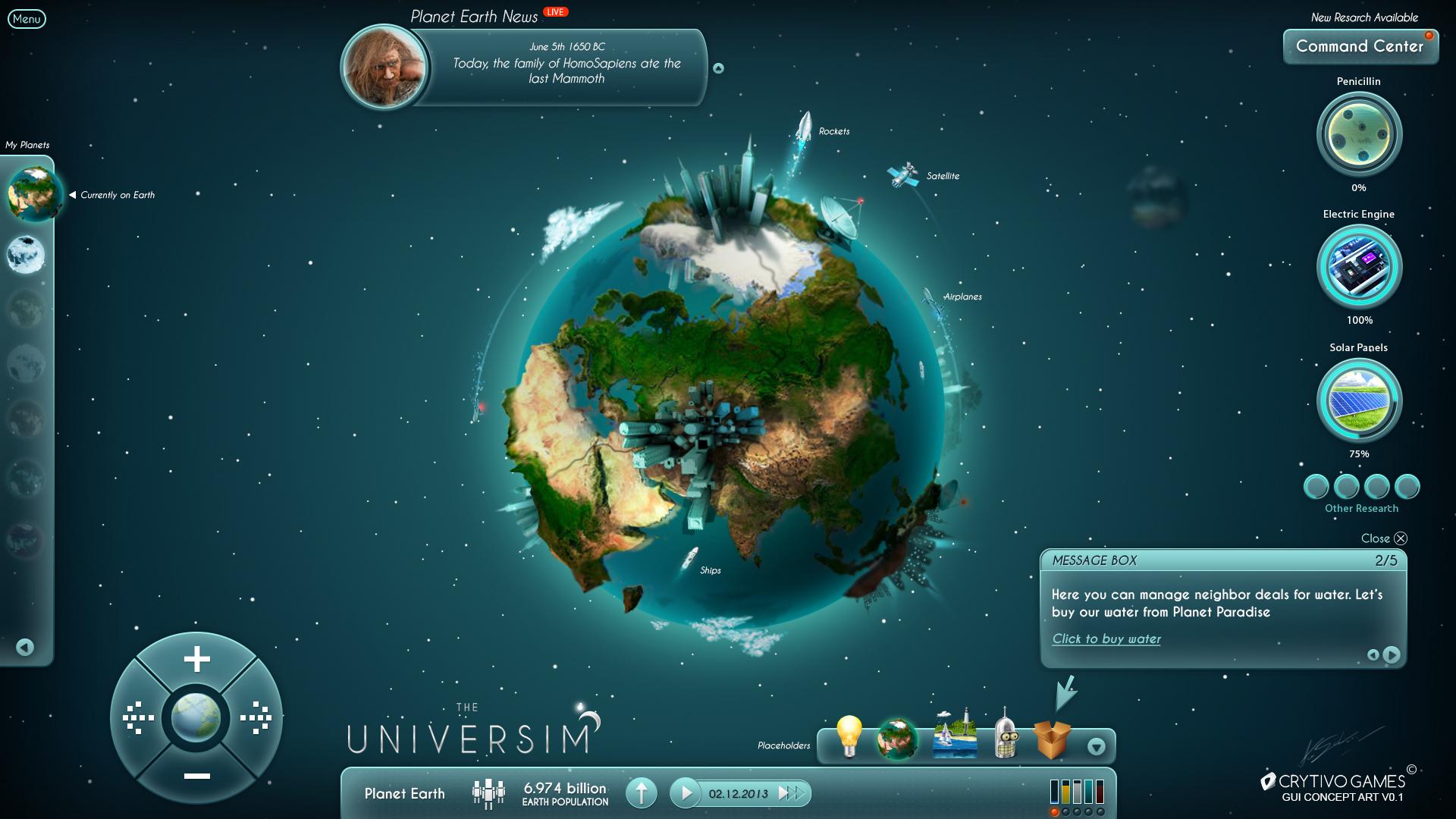 The Universim Game UI Concept
