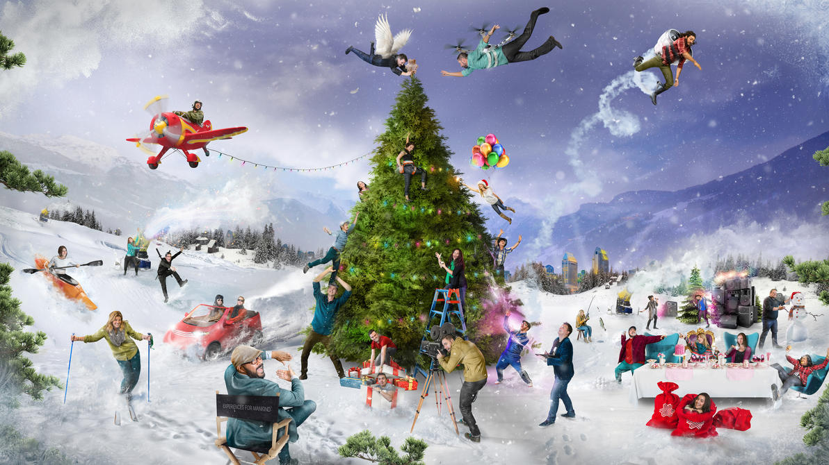Holiday Card for Experiences For Mankind Agency by Koshelkov