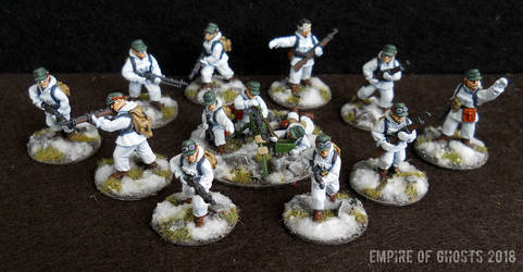 28mm Gebirgsjager Squad by EmpireOfGhosts