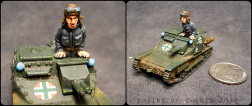 1/56 Hungarian CV-33 Tankette by EmpireOfGhosts