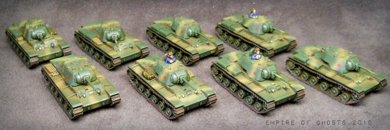 15mm Soviet Tankovy Company by EmpireOfGhosts