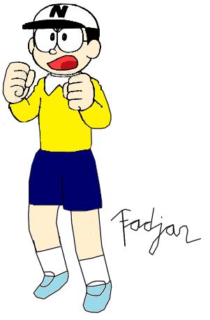 how to draw nobita easily