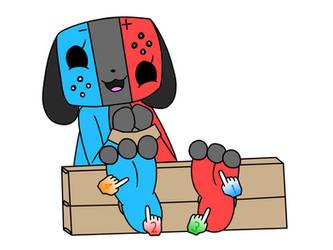 Switch Dog Tickling by TheGifTickler