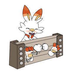 A Stocked Scorbunny Getting Tickled by TheGifTickler