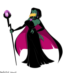 Raven magica green by greycat-rademenes