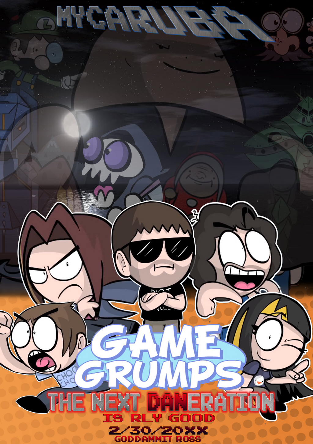 Game Grumps - The Next Daneration - Movie Poster by KristianTheTiragon