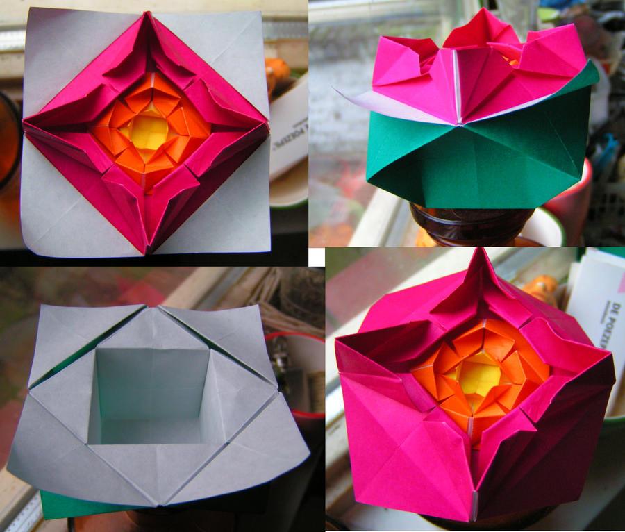 origami flower box by ivyjuniper on deviantart