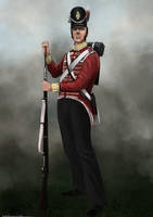 44th Regiment of Foot 1815 (rough) by RobbieMcSweeney