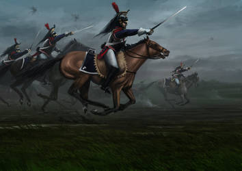 The Cuirassiers Charge at Waterloo by RobbieMcSweeney