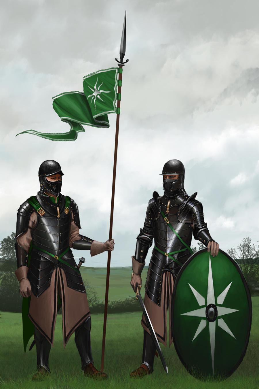Utarian Dismounted Lancer and Swordsman of Foot by RobbieMcSweeney