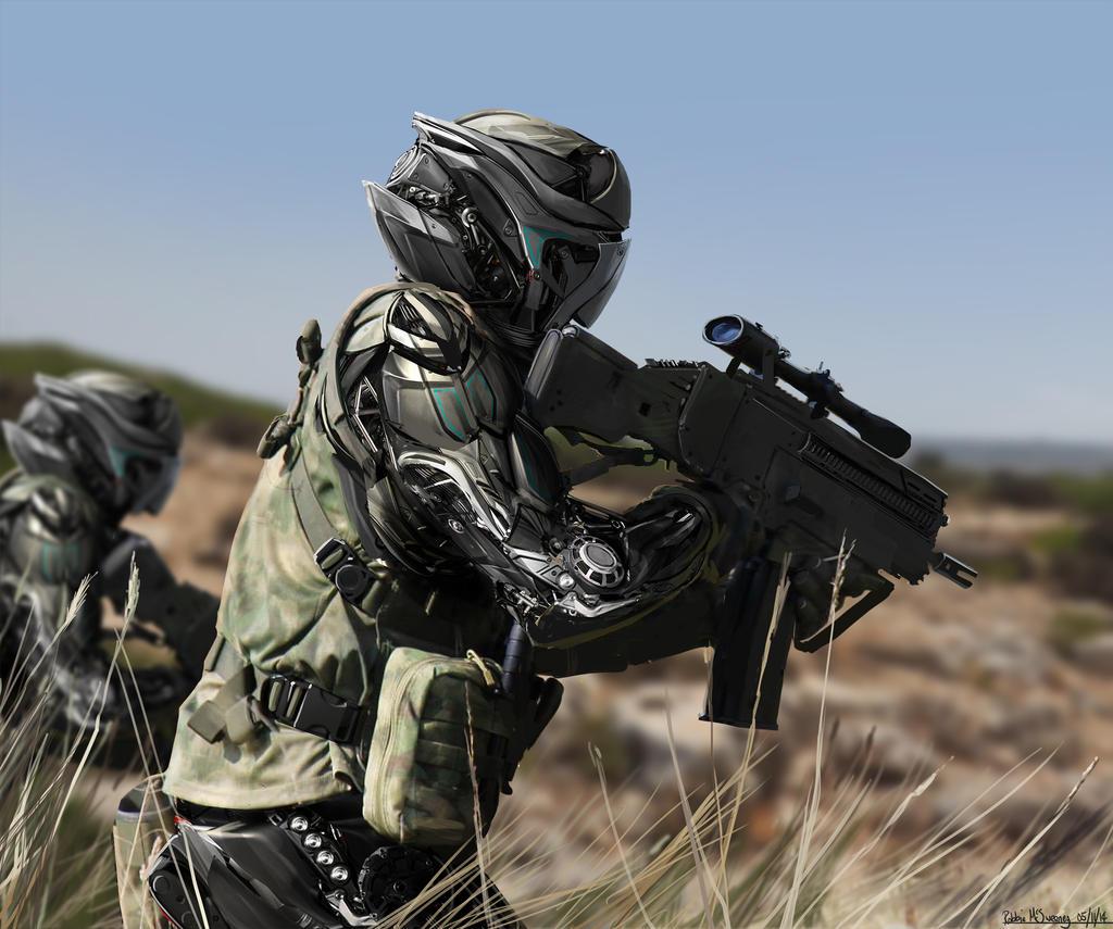 Sci-fi Soldier 2 by Sketchshido on DeviantArt