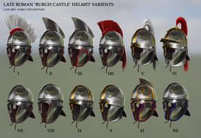 Late Roman 'Burgh Castle' Helmet Variants by RobbieMcSweeney