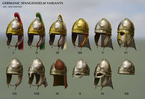 Germanic Spangenhelm Variations
