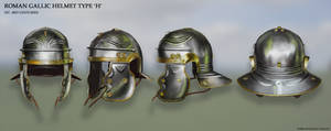 Roman Gallic Helmet Type 'H' by RobbieMcSweeney