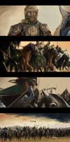 Movie Study Paintings 2 (Rohirrim Charge Scene).