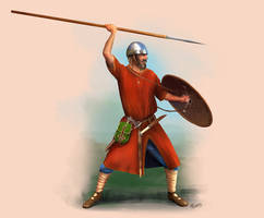 Frankish Warrior Circa 5th century by RobbieMcSweeney