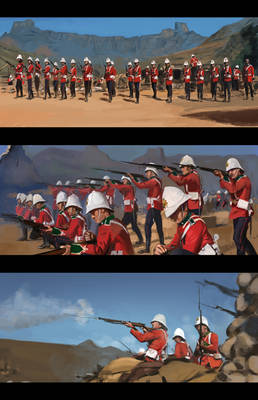 Zulu (Red Coats) 1964 Study