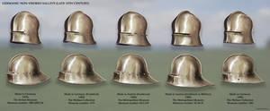 Germanic Non-Visored Sallets (late 15th Century)