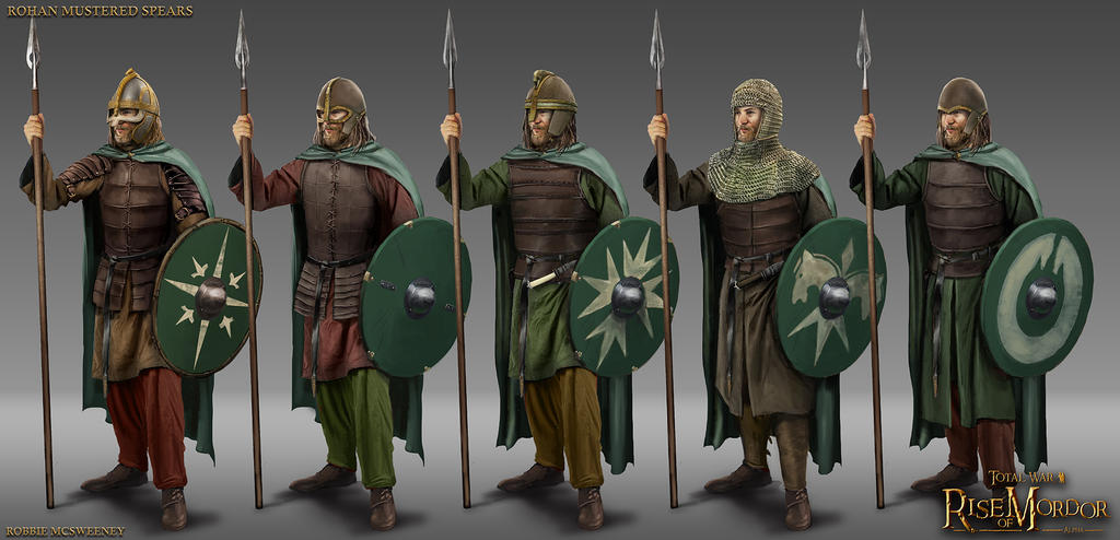 Rohan mustered spearmen by robbiemcsweeney on deviantart for Rohan design