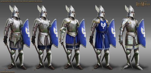 Knights of the  silver swan armour ideas