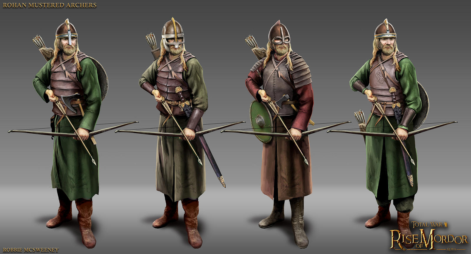 Rohan mustered archers by robbiemcsweeney on deviantart for Rohan design
