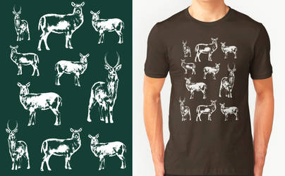 Waterbuck T-shirt Design by RobbieMcSweeney