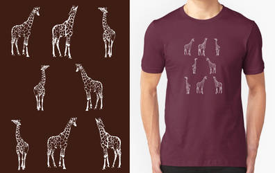 Giraffe T-shirt Design by RobbieMcSweeney