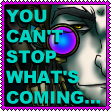 You Can't Stop What's Coming stamp