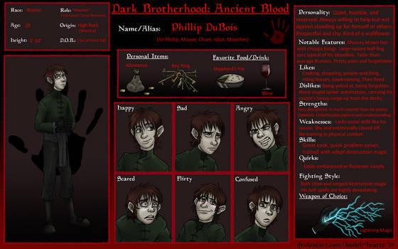 Ancient Blood: Phillip Info Sheet