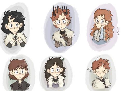 GoT/Asoiaf : Little Starks