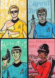 Star trek cards by Grandkhan