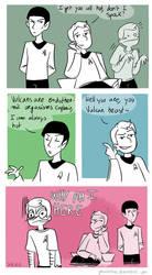 Star Trek - Strange New dumb comics #15 : Hot by Grandkhan