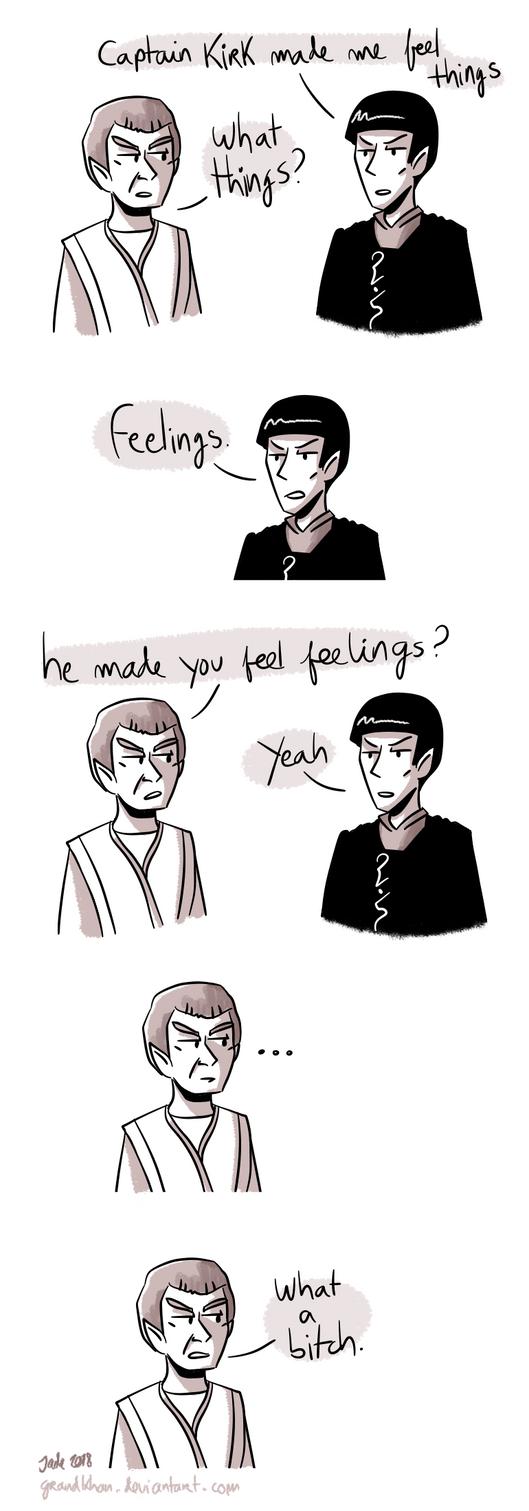 Star Trek - Strange New dumb comics #17 : Feels by Grandkhan