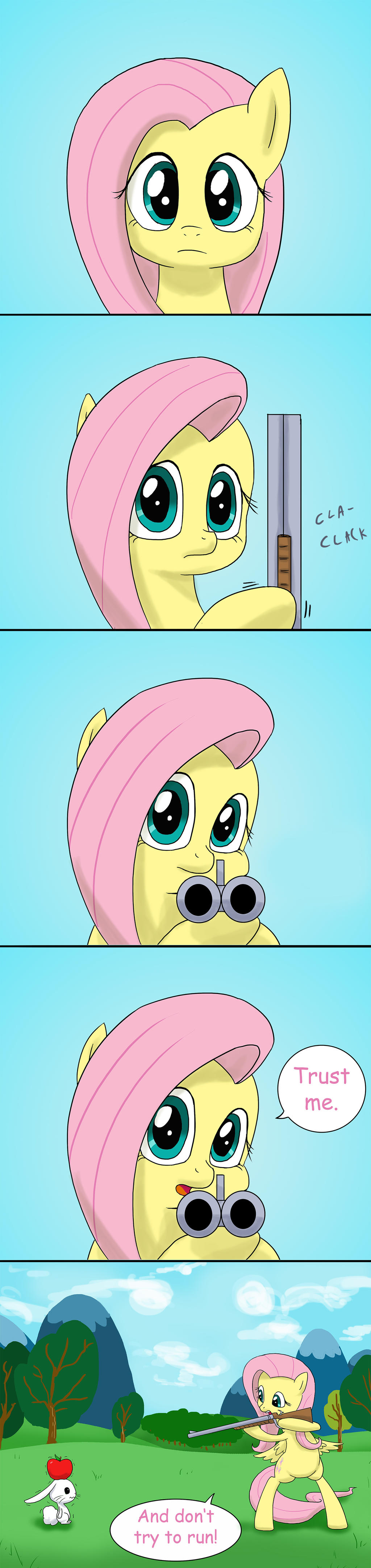 Fluttershy's aim by doubleWbrothers