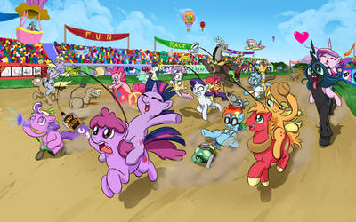 Pony Race Wallpaper