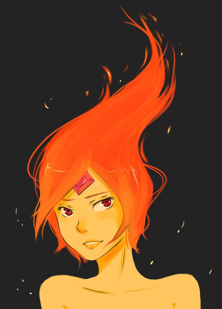 Adventure Time Flame Princess Anime