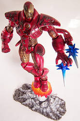 Custom Iron Man Unleashed with battle damage by firebladecomics