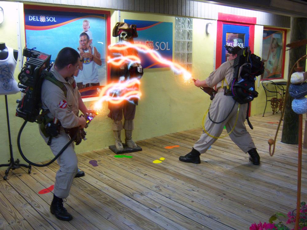 Suncoast Ghostbusters Cosplay FX Shot by firebladecomics