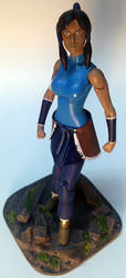 Legend of Korra Custom Action Figure with base by firebladecomics