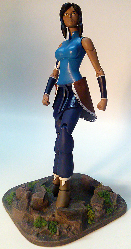 Legend Of Korra Toys : Legend of korra custom action figure with base by
