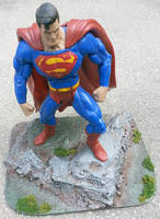Custom Rocky Action Figure display base diorama by firebladecomics