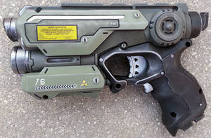 Custom Halo Inspired Nerf Firestrike pistol prop by firebladecomics