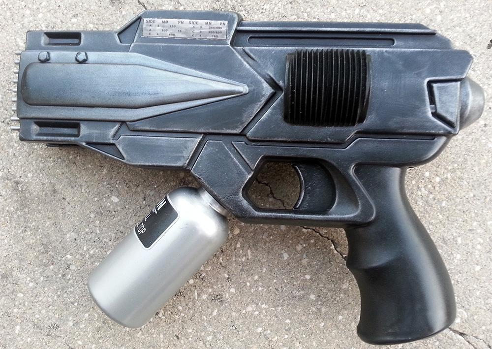 Custom Microwave Gun Blaster Pistol Prop by firebladecomics