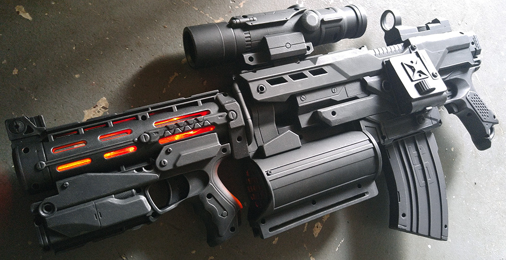 Custom Avengers Agent Phil Coulson Destroyer Gun by firebladecomics