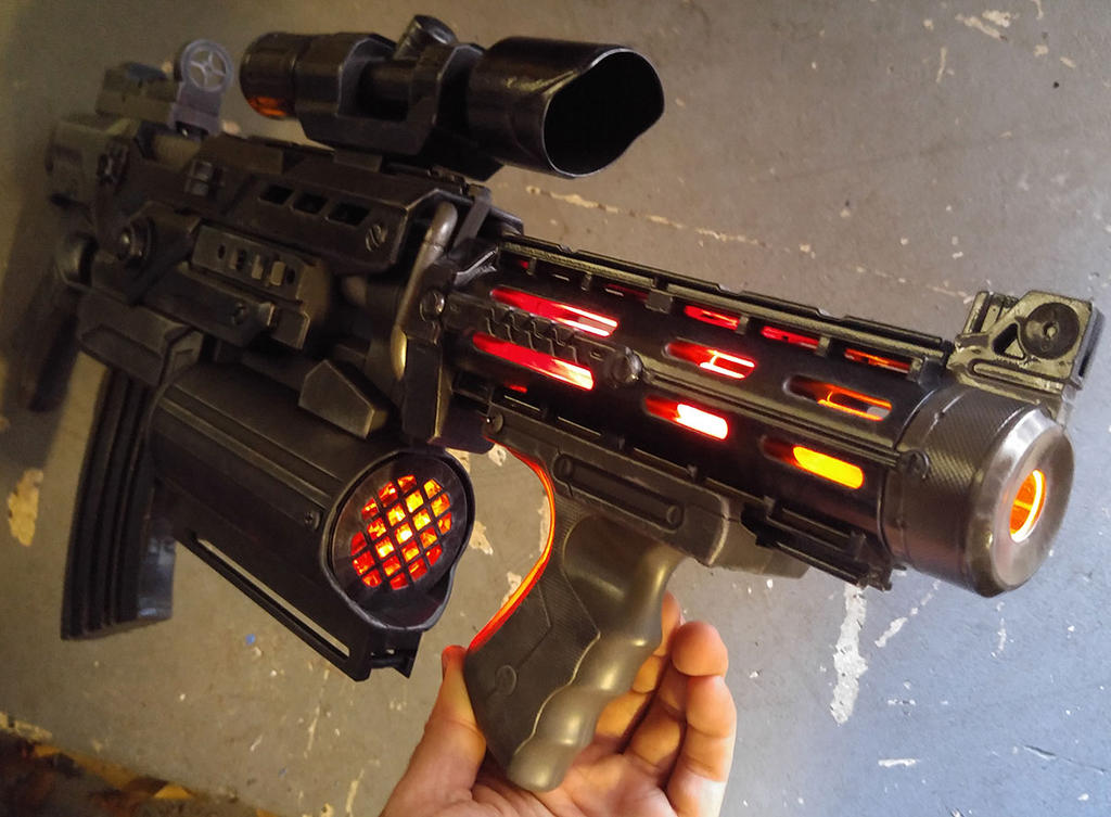 Custom Destroyer Gun version 2 by firebladecomics
