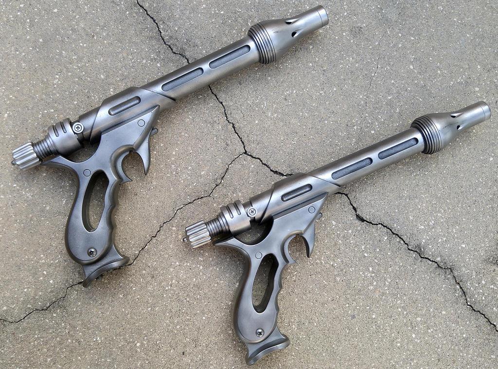 Jango Fett Blaster Pistols by firebladecomics
