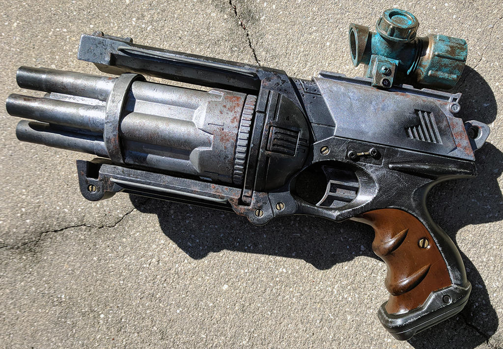 Dieselpunk Nerf Maverick repaint and mod gun prop by firebladecomics