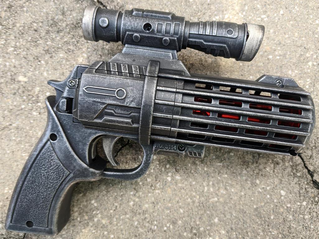 Custom Mini Blaster Pistol Boba Fett style by firebladecomics