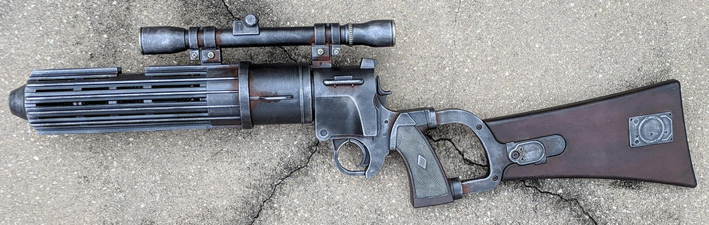 Boba Fett Blaster Rifle Star Wars Cosplay Prop by firebladecomics