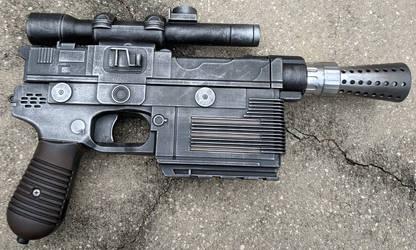 Han Solo's DL-44 Blaster Pistol Nerf Gun Repaint by firebladecomics